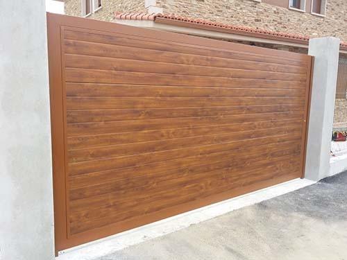 Puertas automaticas abatibles o batientes portagal - Vinilos imitacion madera para puertas ...