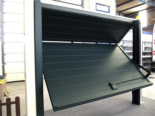 Puertas automaticas basculantes plegables portagal - Puertas abatibles garaje ...
