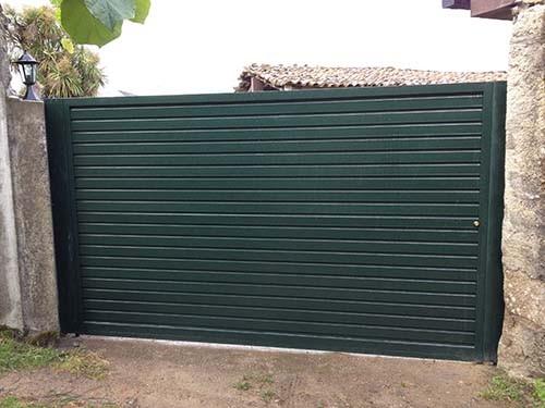 Puertas automaticas correderas portagal for Puerta garaje metalica